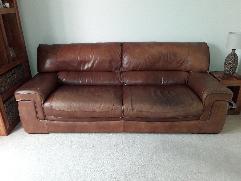 4 seat leather sofa | in Rushmere St Andrew, Suffolk | Gumtree