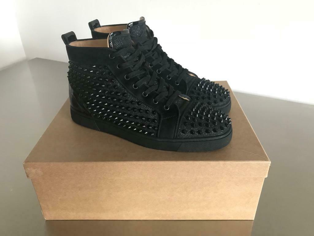 finest selection 89688 49f28 Authentic CHRISTIAN LOUBOUTIN Louis Orlato Flat Glitter Spikes | in  Gateshead, Tyne and Wear | Gumtree