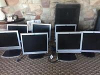 HP monitors x 7