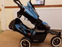Phil & teds navigator double /twin buggy/ pushchair with dot wheels