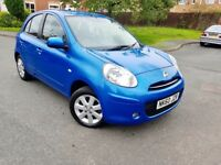 NISSAN MICRA ACENTA 1.2 PATROL 2011 FULL SERVICE HISTORY EXCELLENT CONDITION 5 DOORS ALLOY £2690