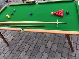 6ft Snooker Table with balls & accessories