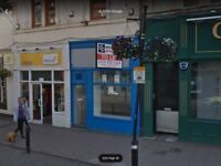 Super Location, Shop unit to rent let, AYR High Street, Very busy area, barbers ecig newsagents etc.