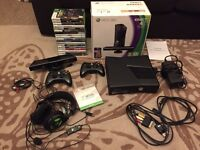 Xbox 360 Console Package Bundle 250GB inc Turtle Beach Headset / Kinect / Games x 18
