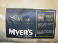 Myer's double mattress, 1000 springs ,cost hundreds ,only been used in guest room,