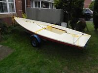 12 foot sailing dingy eeds TLC FREE also boat Bike trike trailer galvanized boat trailer for sale
