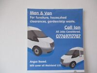 man and van, arbroath ,montrose,brechin,forfar and all uk