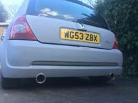 Renault Clio twin exhaust