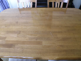 Dining Table & 6 Chairs - Immaculate condition barring one scratch which is easily repairable