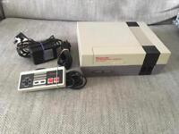 NINTENDO NES CONSOLE WITH ALL CABLES