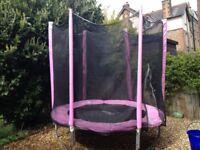 6ft diameter Plum junior trampoline and enclosure (pink)