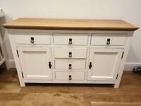 Sideboard- wood and white