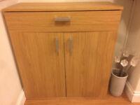 Venetia Shoe Storage Cabinet - Oak Effect £30 HAS TO GO