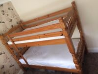 Solid Wooden Single Bunk Bed (NEED TO BE SOLD QUICKLY)