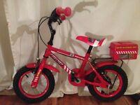 Boys red apollo firechief bike aged 2-5 years