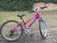 """Raleigh girls bicycle Betrayal 24"""" wheel. Bike in great condition ready to go"""
