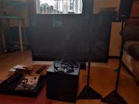 LG 50' 50PZ570T PLASMA 3D TV + SONY BLU-RAY/DVD 3D HOME CINEMA SYSTEM + MORE