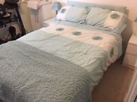 Small double divan bed with drawers