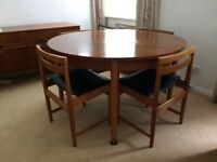 Vintage teak table and chairs