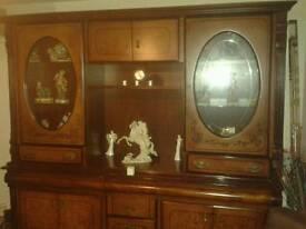 Large wooden unit dresser