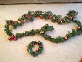 Christmas Decorations. Garlands & Wreath.