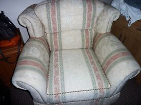 TWO ARMCHAIRS VERY NICE CONDITION ,FIRE LABLES STILL ON ,REMOVABLE COVERS.