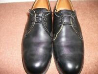 Vintage NCB Black Leather Size 7 Internal Toecapped Mining Safety Shoes.