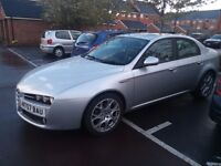 Alfa Romeo 159 1.9 Jtdm. fsh, clutch and cambelt done. upgraded alloys and DAB touchscreen radio