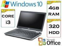 BARGAIN - Dell Latitude e6320 i5 2.6 Ghz 4gb Ram 320gb HDD Windows 10 Laptop