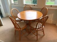 Large wooden dining table | 105cm | great condition | collection only