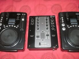 2 X CD DECKS AND MIXER