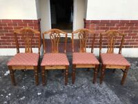 4 x Ducal pine dining chairs