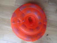 ZOGGS BABY SWIM SEAT ~ INFLATABLE ~ UP TO 12 MONTHS ~ AS NEW ~ £7.50