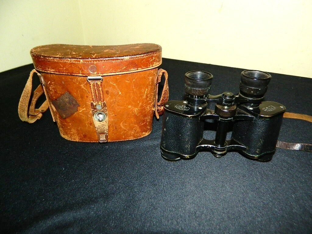Купить ANTIQUE CARL ZEISS JENA TELACTEM 8x BINOCULARS WITH CARL ZEISS JENA CASE 340323