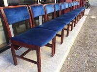 Hardwood church pew interlocking chair