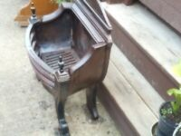 Cast Iron Fire Basket with 8x4 timbers for mantle available