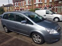 Vauxhall Zafira 1.6L, Petrol 7 seater, with 11 month PCO badge