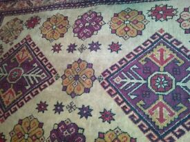 vintage handmade Indian rug / carpet fine high knot count good quality natural dyes country house