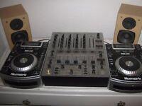 Numark CD decks, Behringer mixer and speakers for £250