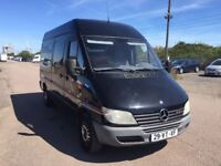 LEFT HAND DRIVE MERCEDES BENZ SPRINTER,DRIVES VERY WELL,GOOD LOAD SPACE,ENGINE & MECHANICS.CALL ME