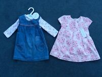 Baby Girls brand new with tags dresses for 9-12 months from smoke and pet free home