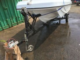 16 ft Wilson flyer and two newly serviced engine and trailer