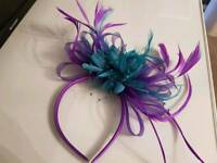 Head piece purple teal for any occasion mint condition