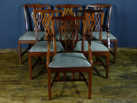6 georgian style chairs