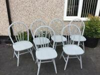 6 next spindle back chairs