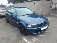 2002 BMW 318Ci E46 Coupe N42B20 BREAKING FOR PARTS SPARES Topaz Blue