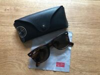 Ray-Ban Wayfarer tortoiseshell sunglasses with case, good condition - £40 o.n.o.