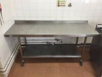 STAINLESS STEEL CHEFS PREP TABLE 1.8M