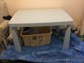 Blue ikea table