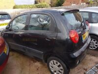 CHEVROLET MATIZ 1,0 PETROL56 REG 5 DOOR BLACK LOW MILES LADY OWNED COME WITH 12 MONTHS MOT MAY P\X